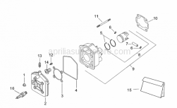 Engine - Cylinder Head I - Aprilia - Piston ring set D40