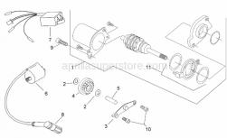 Engine - Ignition Unit - Aprilia - Brush holder with OR