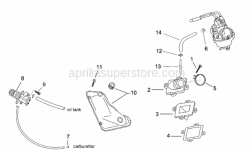 Engine - Supply - Oil Pump - Aprilia - Hose collar