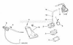 Engine - Supply - Oil Pump - Aprilia - Hose clip D8,5x5,5