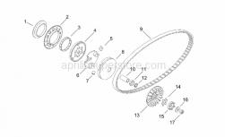 Engine - Variator - Aprilia - Starter motor gear Z=71