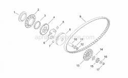 Engine - Variator - Aprilia - Cage D57x61x10