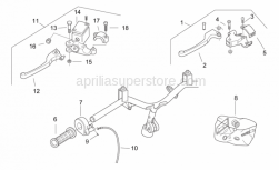 Frame - Controls I - Aprilia - Rear brake lever