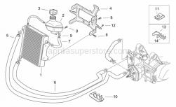 Frame - Cooling System - Aprilia - Water cooler-pump tube