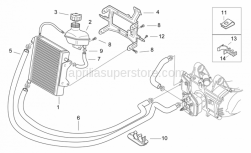 Frame - Cooling System - Aprilia - Water tubes holder SUPERSEDED BY AP8234218