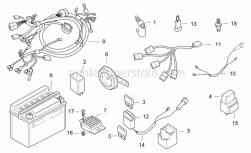 Frame - Electrical System - Aprilia - Starter motor wiring harness