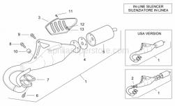 "Frame - Exhaust Unit ""Fast"" - Aprilia - Silent block, exhaust pipe"