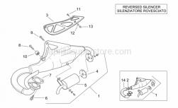 "Frame - Exhaust Unit ""Rac"" - Aprilia - Exhaust pipe prot., black"