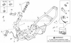 Frame - Frame - Aprilia - Main switch - steering lock