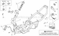Frame - Frame - Aprilia - Plugs spring