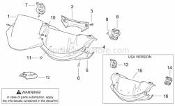 Frame - Front Body I - Aprilia - Screw w/ flange M5x12