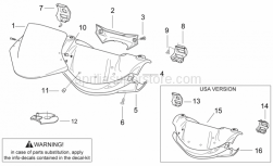 Frame - Front Body I - Aprilia - Self-tapping screw *
