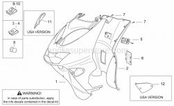 Frame - Front Body III - Aprilia - Internal shield, grey