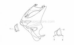 Frame - Front Body Iv - Aprilia - RH air intake, grey