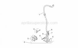 Frame - Front Brake Caliper - Aprilia - Screw w/ flange