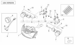 Frame - Front Lights Usa - Aprilia - Headlight wiring w/harness