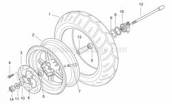 Frame - Front Wheel - Aprilia - Front wheel, silver