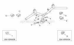 Frame - Handlebar - Buttons - Aprilia - Screw w/ flange M8x40