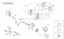 Frame - Rear Lights Usa - Aprilia - White self-tap scrw 3,9x16