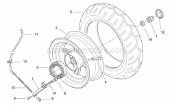 Frame - Rear Wheel - Drum Brake - Aprilia - Coil compress. spring *