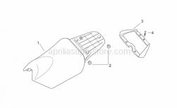 Frame - Saddle Unit I - Aprilia - Pillion grab bar, grey