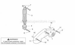 Frame - Shock Absorber - Aprilia - Shock absorber cover, black