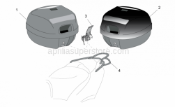 Accessories - Acc. - Top/Cases, Side Cases - Aprilia - Top box support Conc/New-C, DISCONTINUED NO LONGER AVAILABLE