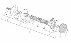 Engine - Clutch - Aprilia - Rear pulley assy