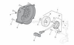 Engine - Flywheel - Aprilia - Flanged nut