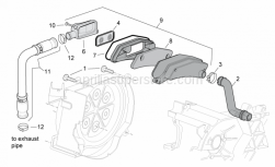 Engine - Secondary Air - Aprilia - Airhose for airbox
