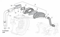 Engine - Secondary Air - Aprilia - Hose clamp