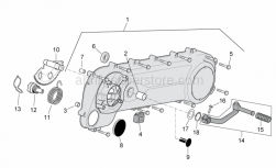 Engine - Transmission Cover - Aprilia - Plug for checking starter motor