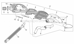 Frame - Air Box I - Aprilia - Phillips screw, SWP M5x20