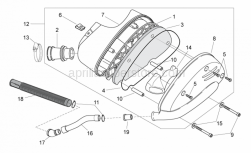 Frame - Air Box Ii - Aprilia - Filter housing cover