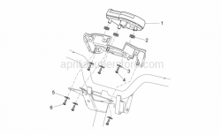 Frame - Dashboard - Aprilia - Rubber spacer *