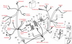 Frame - Electrical System I - Aprilia - Fuse cable