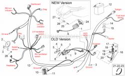Frame - Electrical System II - Aprilia - Fuse cable
