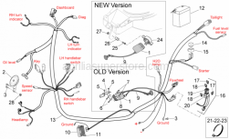 Frame - Electrical System II - Aprilia - Hose clamp
