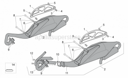 Frame - Exhaust Pipe - Aprilia - Hex socket screw M8x85*