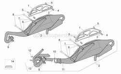 Frame - Exhaust Pipe - Aprilia - Nut m6x30