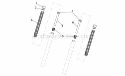Frame - Fork II - Aprilia - Plunger, complete