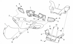 Frame - Front Body I - Aprilia - Dashboard panel
