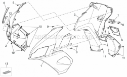 Frame - Front Body III - Aprilia - Internal shield, black