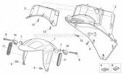 Frame - Front Body Iv - Aprilia - Brake hose hanger