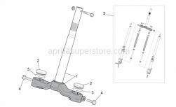 Frame - Front Fork I - Aprilia - Stem base