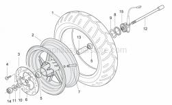 Frame - Front Wheel - Aprilia - Drive key