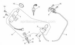 Frame - Lock Hardware Kit - Aprilia - Low nut M19x1*