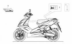 Frame - Plate Set And Handbook - Aprilia - ECE dataplate