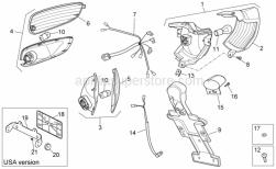 Frame - Rear Lights - Aprilia - RH Turn indicator r.lens