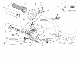 Frame - Rh Controls - Aprilia - Front master cilinder D.12,7